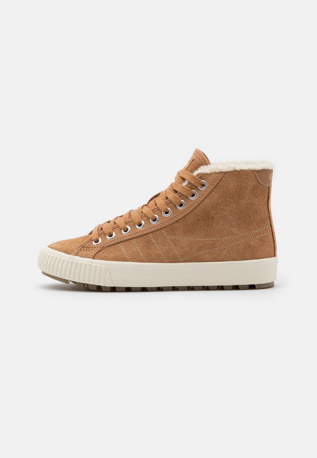NORDIC  - High-top trainers - light caramel