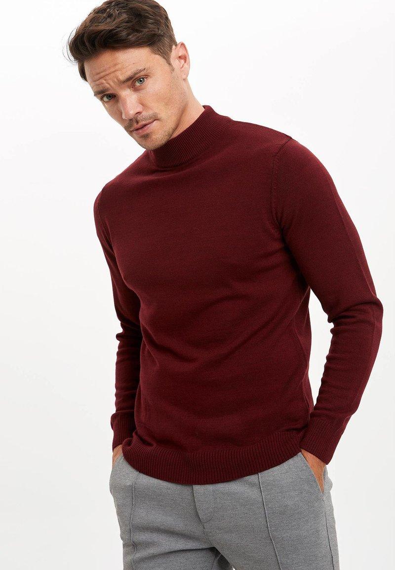 DeFacto - Stickad tröja - bordeaux
