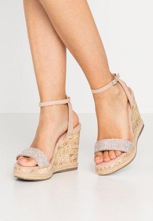 PACIFIC - Sandaler med høye hæler - oatmeal
