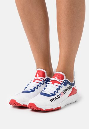 TECH RACER - Trainers - white/red/blue