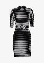 ONLFRIDA 3/4 BELTED DRESS - Shift dress - black/cloud dancer