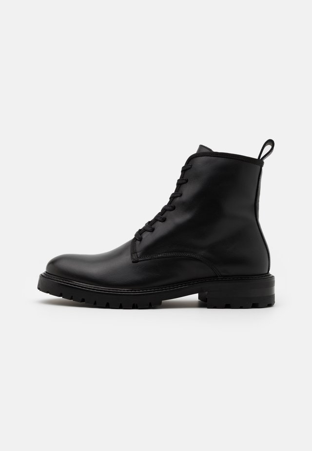 JOHN LACE UP BOOT - Bottines à lacets - black