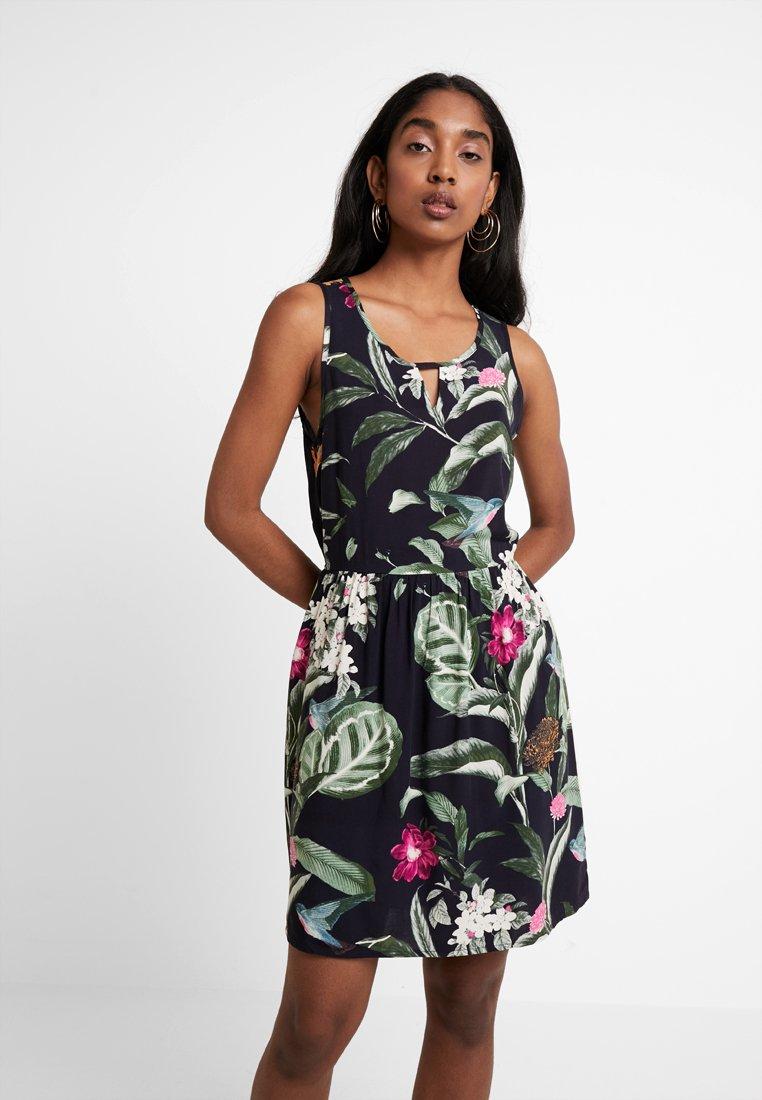 Vero Moda - VMSIMPLY EASY SHORT DRESS - Day dress - night sky/tropicana