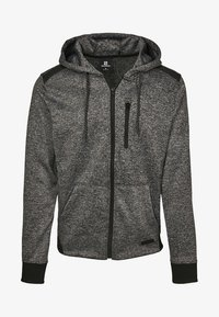 Southpole - HERREN MARLED TECH FLEECE FULL ZIP HOODY - Sweatjacke - marled black - 7