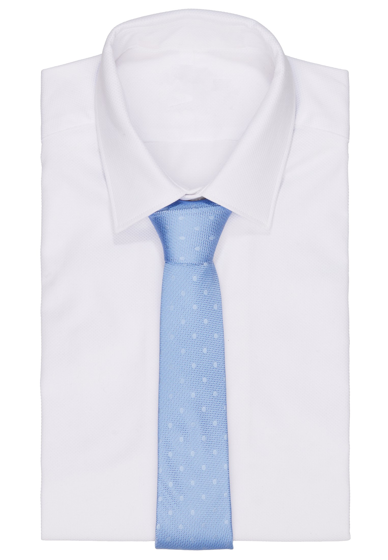 Calvin Klein MIXED SCALE DOTS TIE - Cravate - light blue