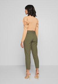 ONLY Petite - ONLNICOLE PAPERBAG ANKEL PANTS - Pantalones - kalamata - 2