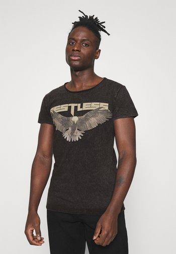 RESTLESS WREN - T-shirt med print - vintage black