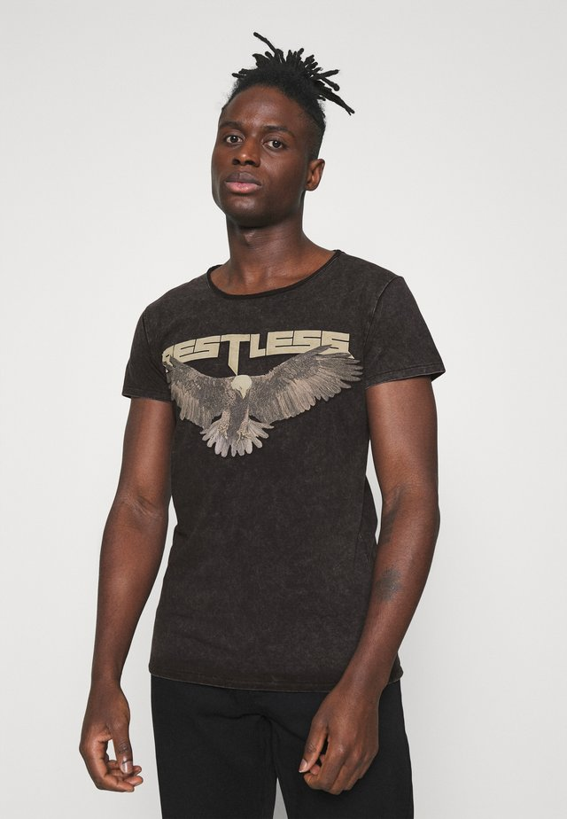 RESTLESS WREN - T-shirt z nadrukiem - vintage black