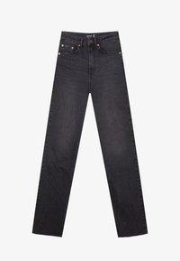 Stradivarius - Straight leg jeans - black - 4