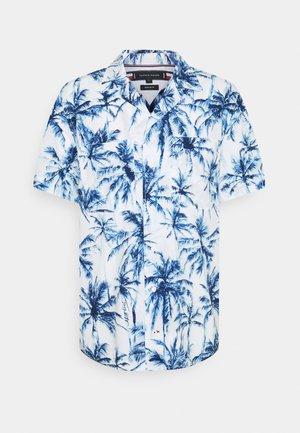 LARGE WATER PALM SHIRT - Skjorta - white/pigment blue