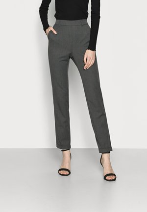 VMMAYA LOOSE SOLID PANT - Tygbyxor - medium grey melange