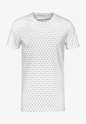 Print T-shirt - bright white/black