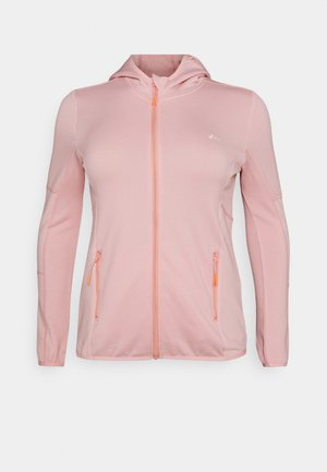 ONPJETTA HOOD CURVY - Fleece jacket - peachskin