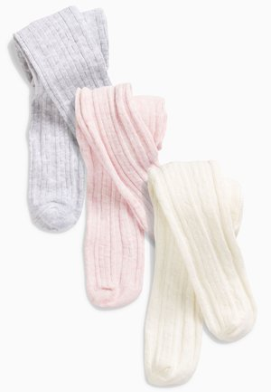3 PACK CABLE TIGHTS - Tights - pink