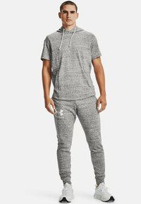 Under Armour - RIVAL TERRY  - Tracksuit bottoms - onyx white - 1