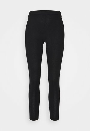 PANEL LEGGINGS - Legginsy - black