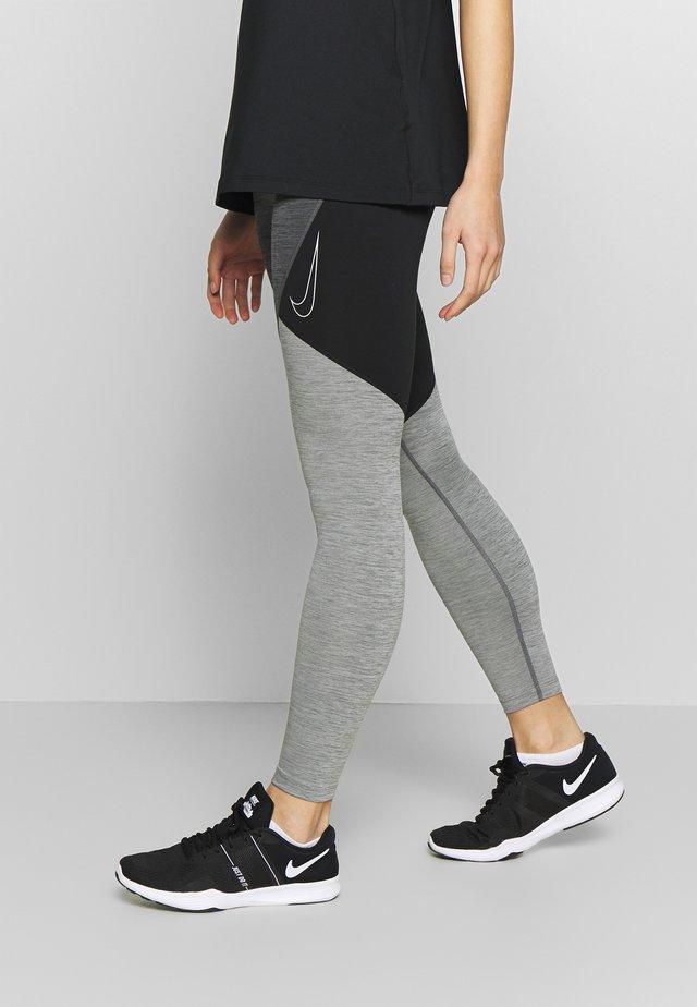 NOVELTY - Leggings - black/iron grey/white