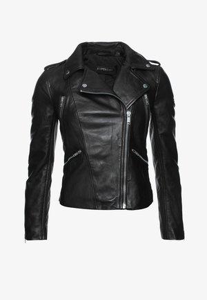 ESSENTIALS  - Leather jacket - black