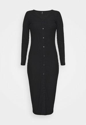 ONLNELLA LONG BUTTON DRESS - Jersey dress - black