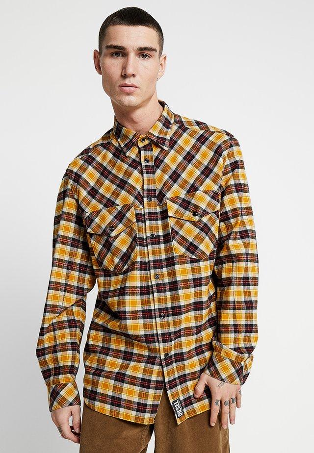 S-TOLSTOJ SHIRT - Shirt - mustard/red/grey
