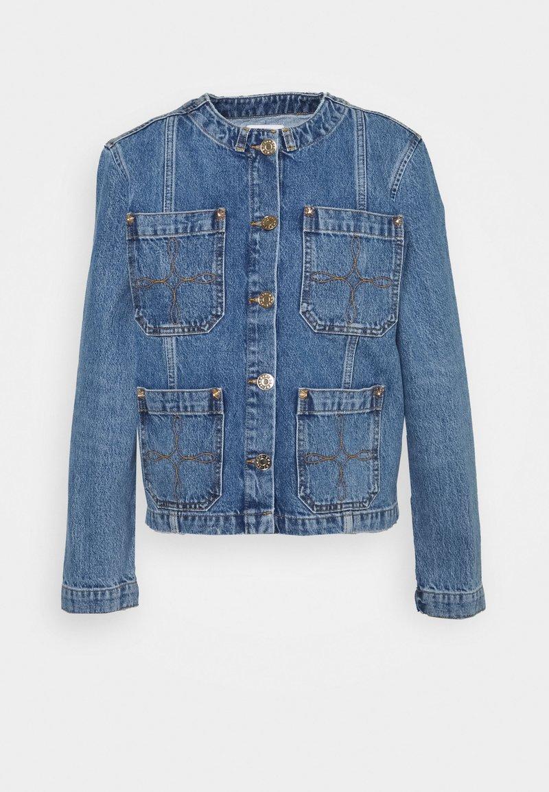 sandro - CANDICE - Denim jacket - bleu denim