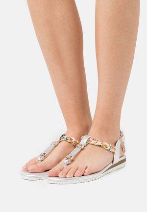 T-bar sandals - metal silver