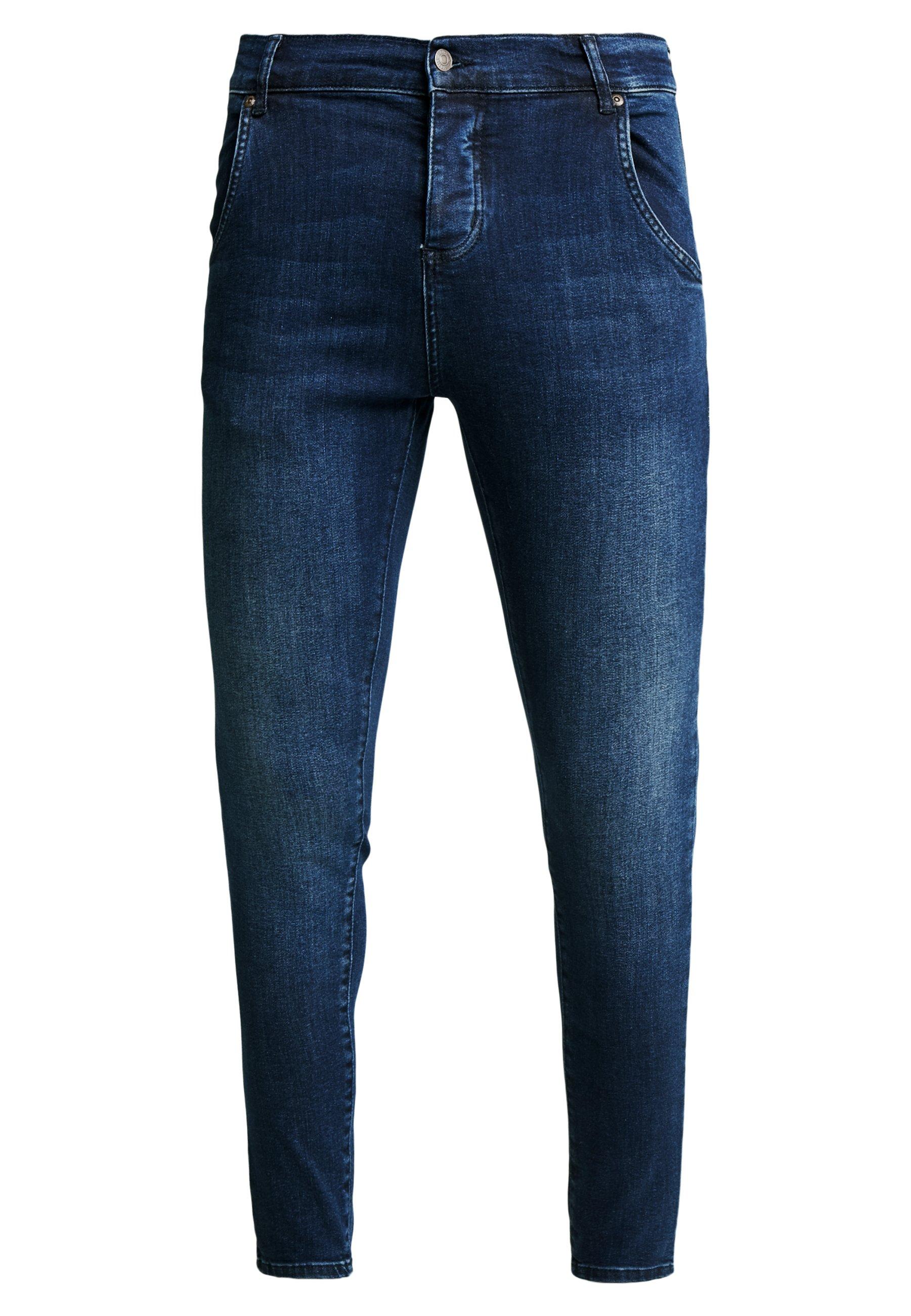 Siksilk Skinny - Jeans Tapered Fit Indigo/mørkeblå
