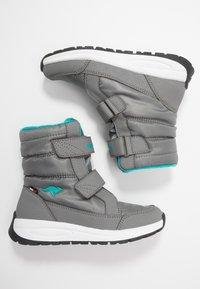 KangaROOS - K-FLOSSY RTX - Winter boots - steel grey/turquoise - 0