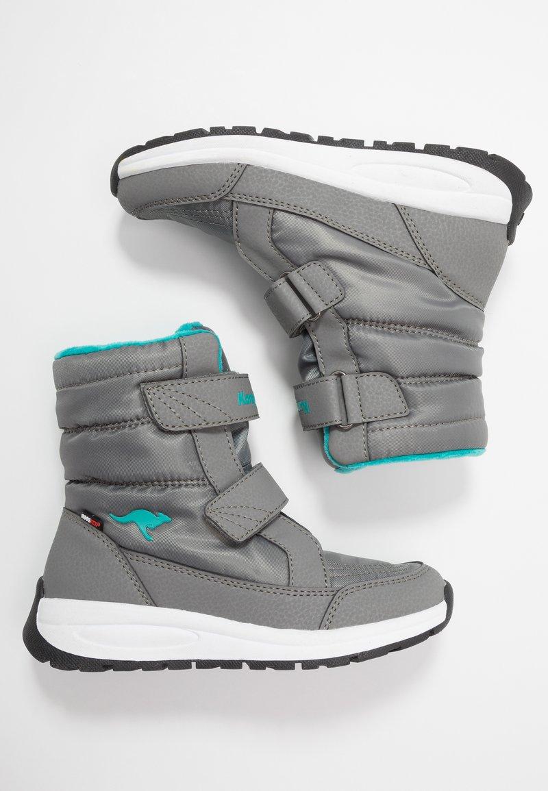 KangaROOS - K-FLOSSY RTX - Winter boots - steel grey/turquoise