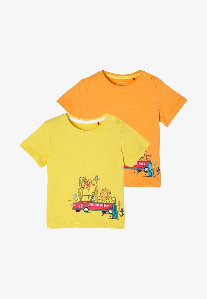 s.Oliver - 2 PACK - Print T-shirt - yellow/orange
