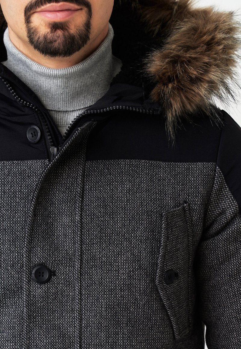 INDICODE JEANS Wintermantel - lt grey mix/grau ry15bT