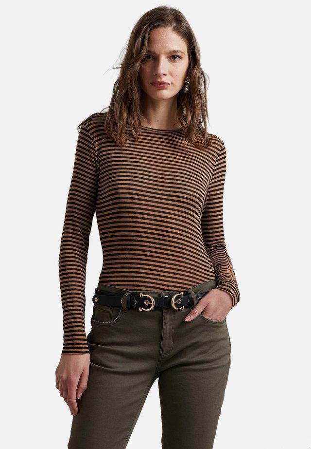 Long sleeved top - marrone