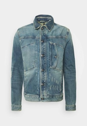 SCUTAR SLIM C - Veste en jean - kir stretch denim o-faded restored