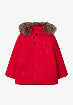Gewatteerde jas - tango red