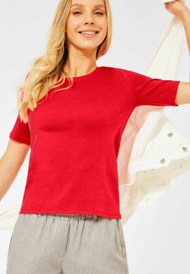 Cecil - Basic T-shirt - rot