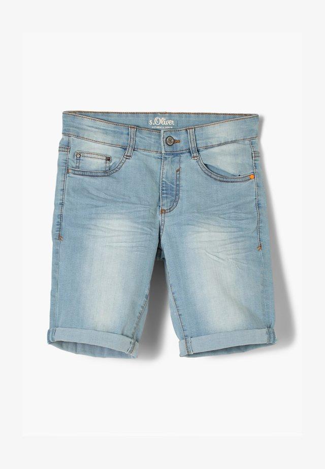 REGULAR FIT  - Jeansshort - light blue