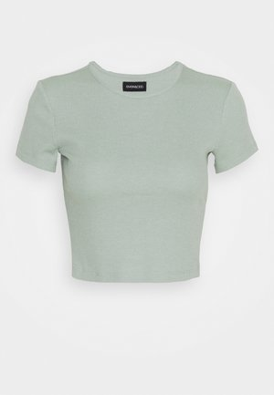 T-shirt basic - mottled light green
