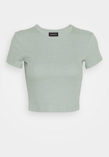 T-shirt basic - mottled light green