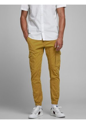 Pantalones cargo - golden brown