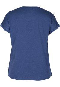 Zizzi - Basic T-shirt - twilight blue mel. - 4