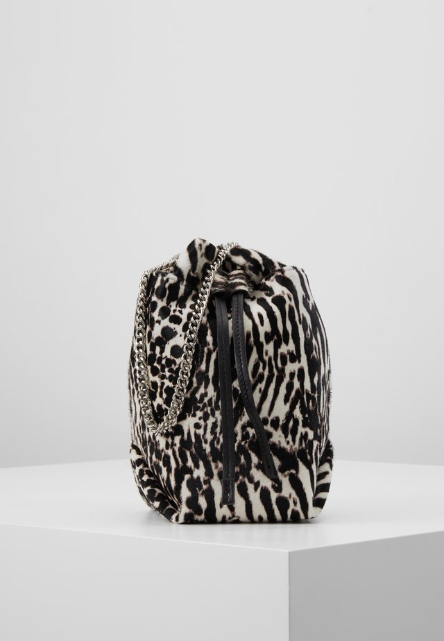 Borsa a tracolla - black zebre/washed grey