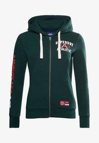 Superdry - COLLEGIATE ATHLETIC  - Zip-up sweatshirt - enamel green - 2