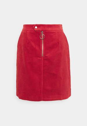 LADIES SKIRT - Mini skirt - burnt orange