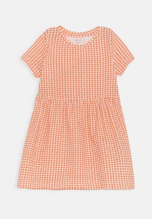 NMFDAMAR DRESS - Jerseyjurk - persimmon