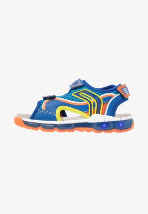 BOY - Walking sandals - royal/orange