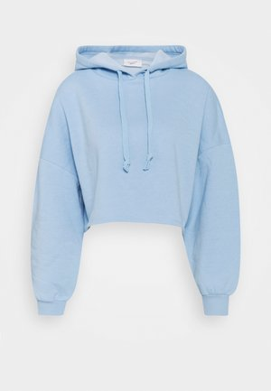 BASIC CROPPED HOOD - Hoodie - powder blue