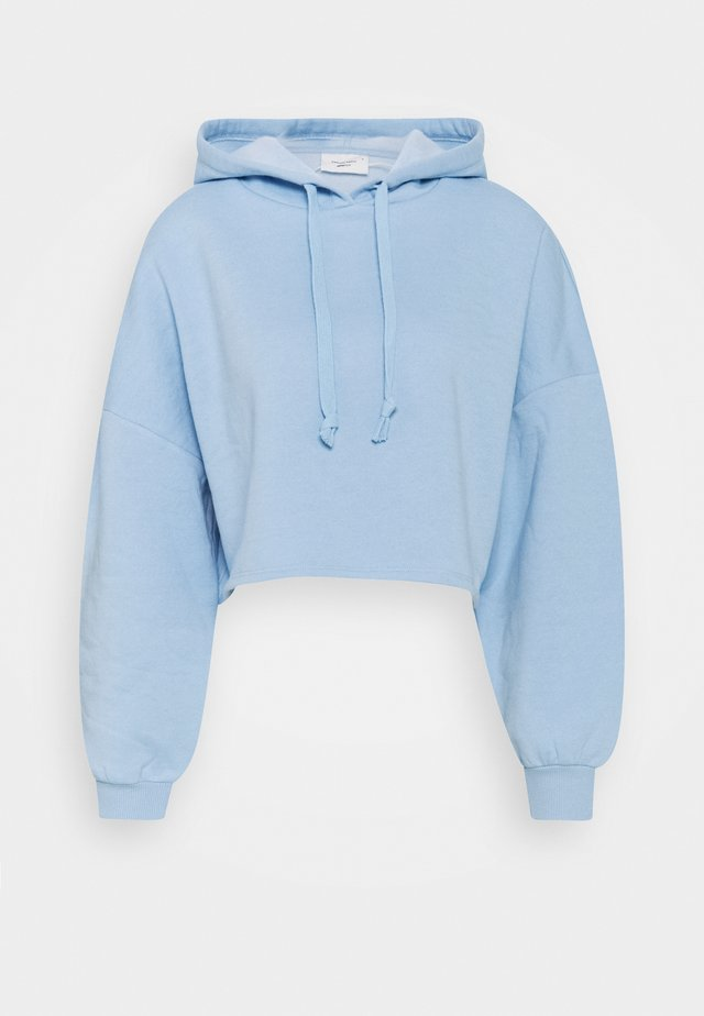 BASIC CROPPED HOOD - Sweat à capuche - powder blue
