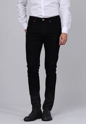 Slim fit jeans - black/bordeaux