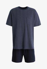 Schiesser - ANZUG KURZ SET - Pyjama set - dunkelblau - 4