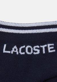 Lacoste Sport - ANKLE SOCK 2 PACK UNISEX - Sports socks - navy blue/white - 2